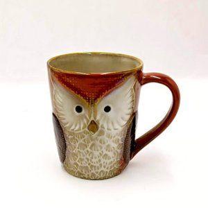 Embossed Wise Owl Coffee Mug 20 Ounce